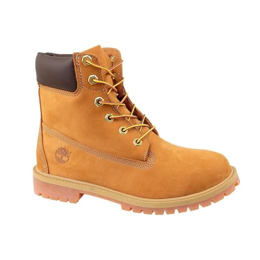 Buty trekkingowe dziecięce Timberland żółte bez wzorów w Domodi