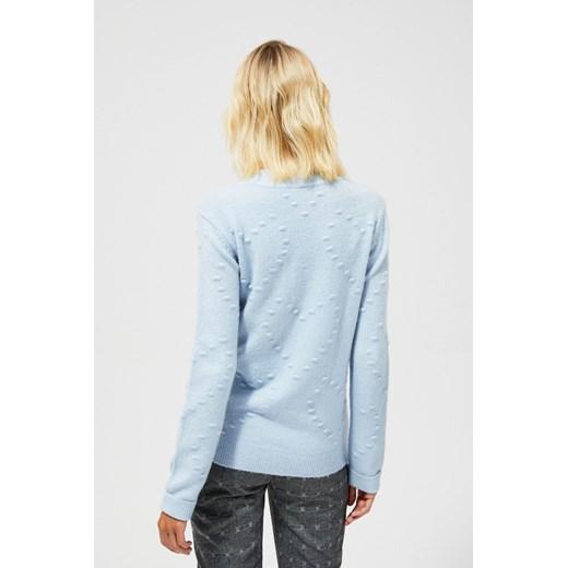 Sweter damski Odzież Damska DG niebieski TPQJ