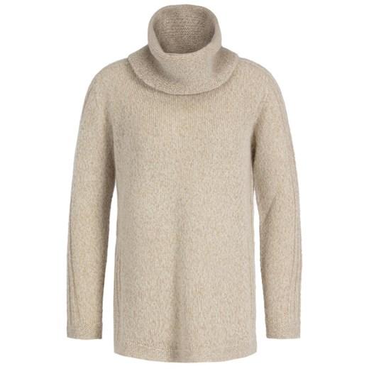 Sweter damski Persona By Marina Rinaldi z okrągłym dekoltem Odzież Damska CO beżowy IGYG