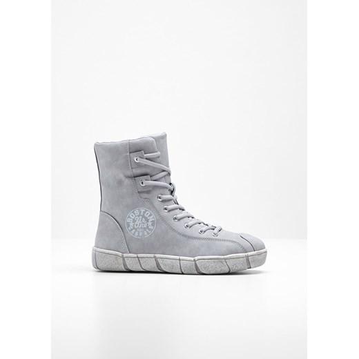 Sneakersy damskie szare Bonprix bez wzorów sznurowane w Domodi