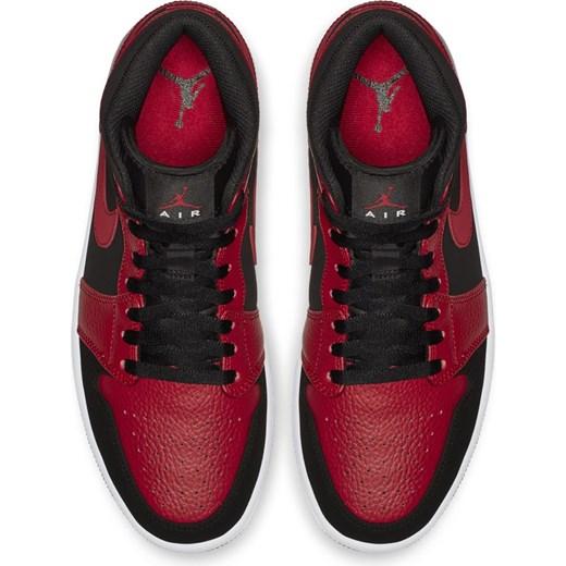 Buty sportowe męskie Nike air jordan ze skóry sznurowane