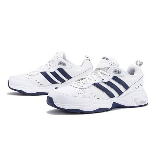 Buty sportowe męskie białe Adidas skórzane