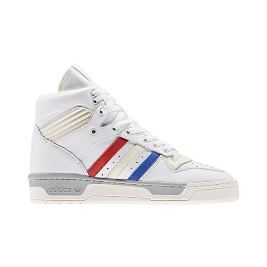 Białe Skórzane Buty Męskie Sportowe Adidas rozmiar 44