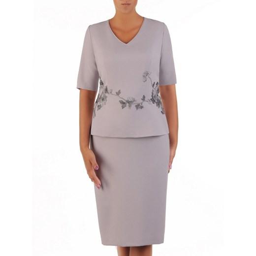 Sukienka baskinka z krótkim rękawem