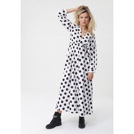 Sukienka Born2be z długimi rękawami maxi do pracy w Domodi
