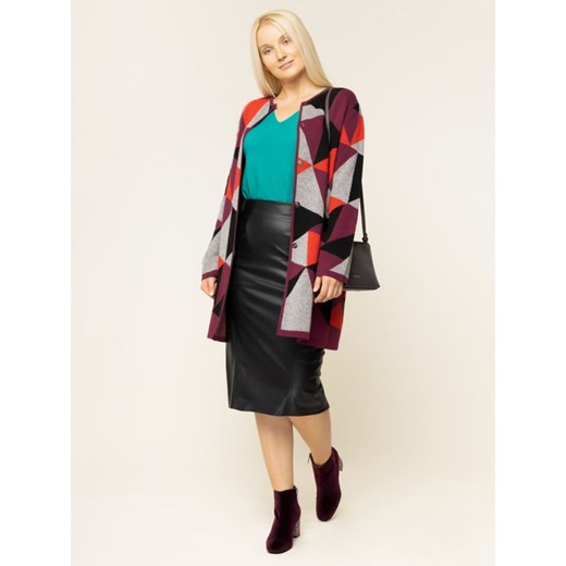 Sweter damski Persona By Marina Rinaldi w serek Odzież Damska CV zielony FRGT