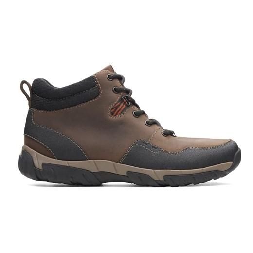Clarks buty zimowe męskie brązowe casual w Domodi