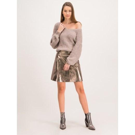 Sweter damski brązowy Max & Co. bez wzorów Odzież Damska MZ brązowy DQLJ