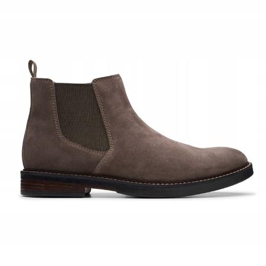 Clarks buty zimowe męskie eleganckie bez zapięcia