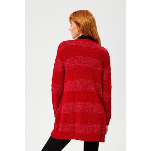 Sweter damski casual Odzież Damska IE czerwony UYUS