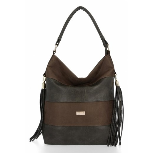 Shopper bag Conci z zamszu na ramię duża w Domodi