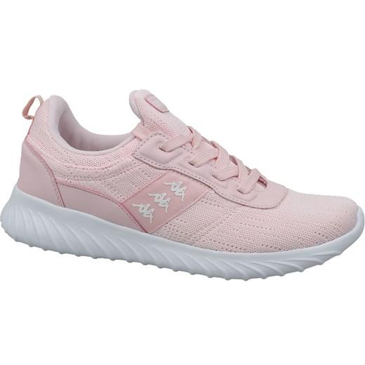 Buty sportowe damskie Kappa sneakersy młodzieżowe na płaskiej podeszwie bez wzorów sznurowane tkaninowe