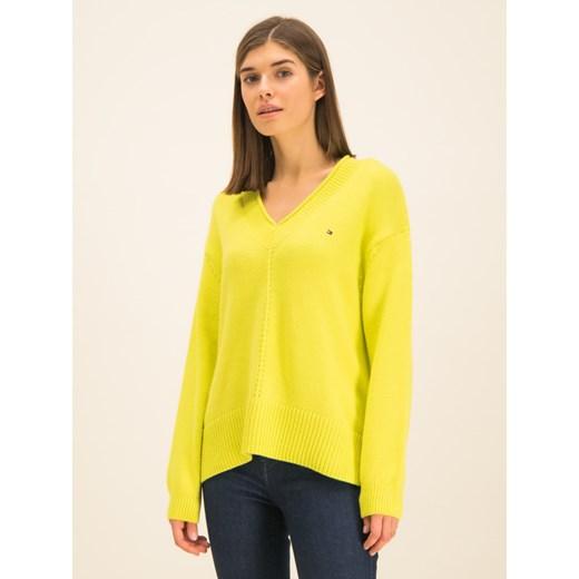 Sweter damski Tommy Hilfiger zimowy Odzież Damska CC żółty IOKA
