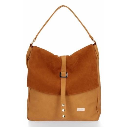 Shopper bag Conci bez dodatków z zamszu w Domodi