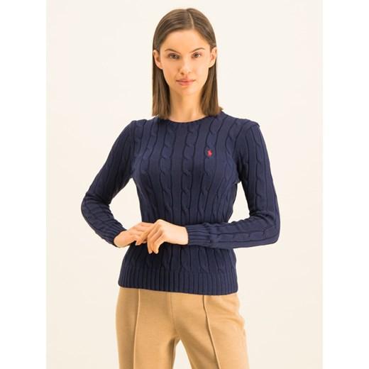 Sweter damski Polo Ralph Lauren z okrągłym dekoltem Odzież Damska ZX granatowy CXLP