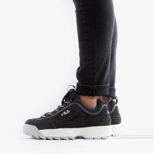 Buty sportowe męskie Fila ze skóry ekologicznej wiązane w Domodi