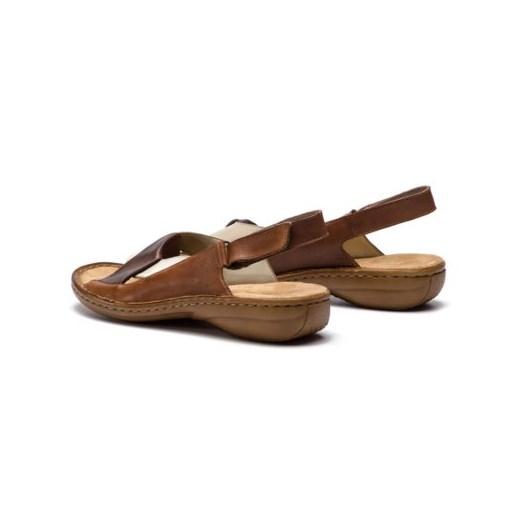 Sandały damskie Rieker brązowe
