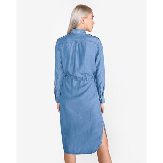 Sukienka G-Star Raw koszulowa Odzież Damska LF niebieski WQGF