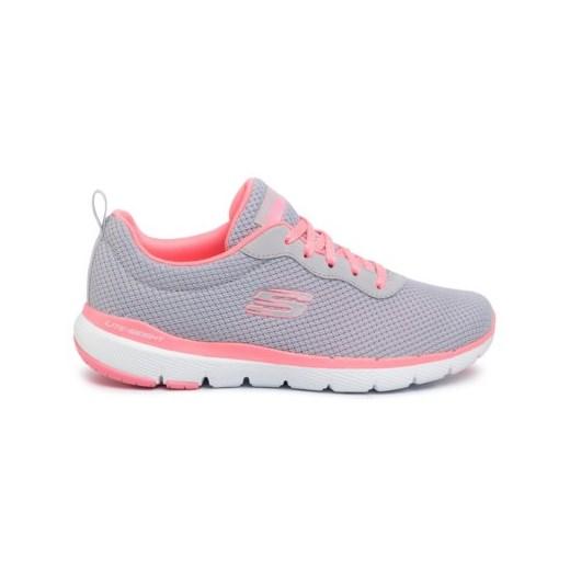 Buty sportowe damskie Skechers dla biegaczy gładkie sznurowane młodzieżowe płaskie