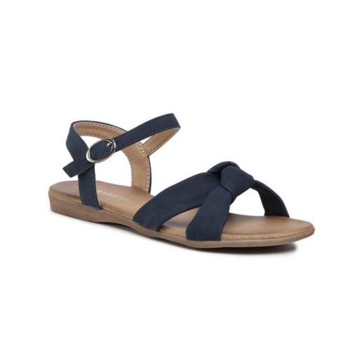 Sandały damskie Bassano casual płaskie z klamrą