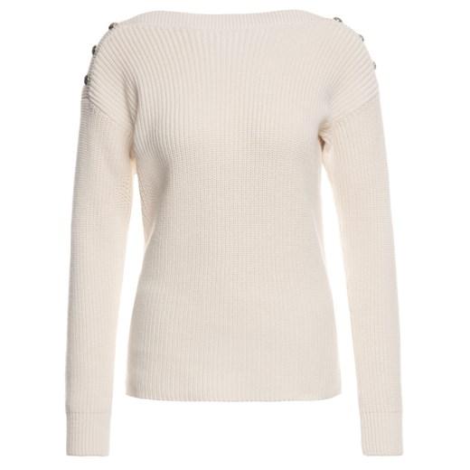Sweter damski Ralph Lauren z okrągłym dekoltem Odzież Damska GR beżowy JNUY