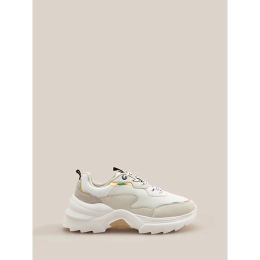 Sneakersy damskie Reserved na platformie bez wzorów sportowe