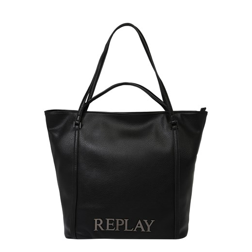 Shopper bag Replay duża skórzana