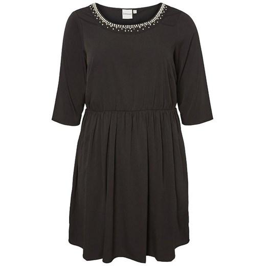 Sukienka Junarose oversize z elastanu casualowa z długimi rękawami Odzież Damska NM czarny GBHJ