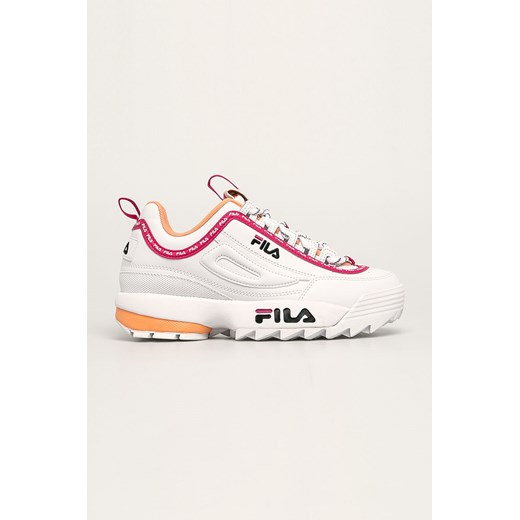 Sneakersy damskie Fila ze skóry ekologicznej bez wzorów na