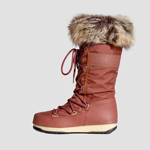 Moon Boot śniegowce damskie gładkie płaskie zimowe zJIs4