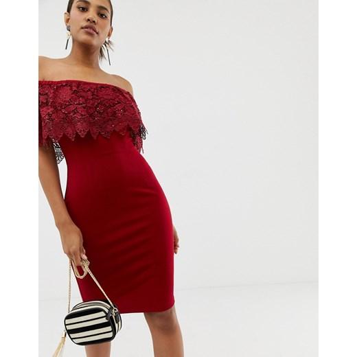 Sukienka Paper Dolls Odzież Damska DT czerwony SWFP