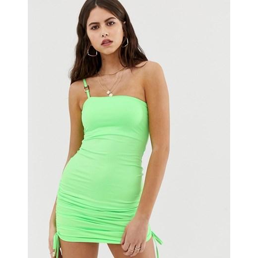 Sukienka Zya Odzież Damska NS zielony FJQQ