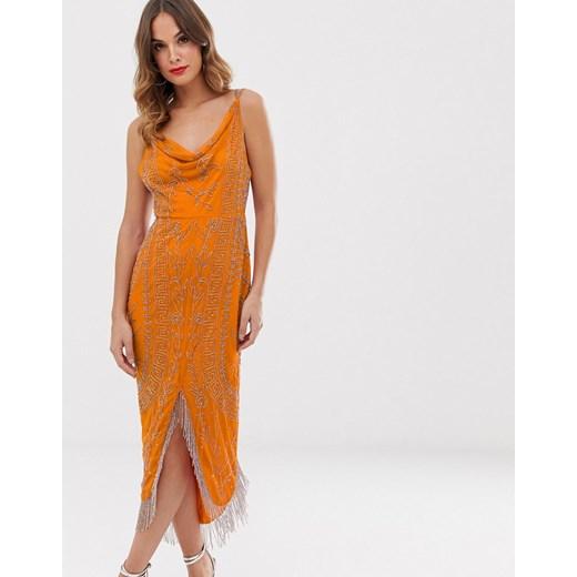 Sukienka Asos Design Odzież Damska SI pomarańczowy MIKC