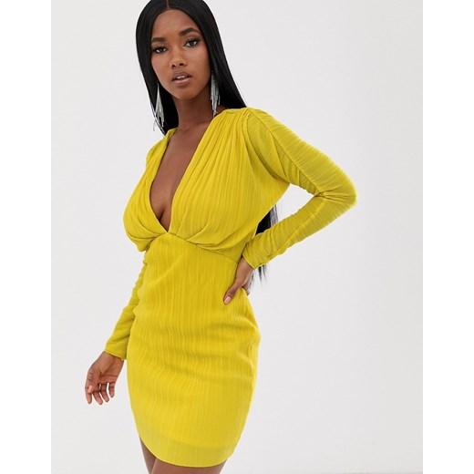 Sukienka Asos Design Odzież Damska DU żółty FYZF