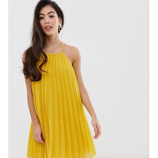 Sukienka Asos mini Odzież Damska JM żółty FBGF