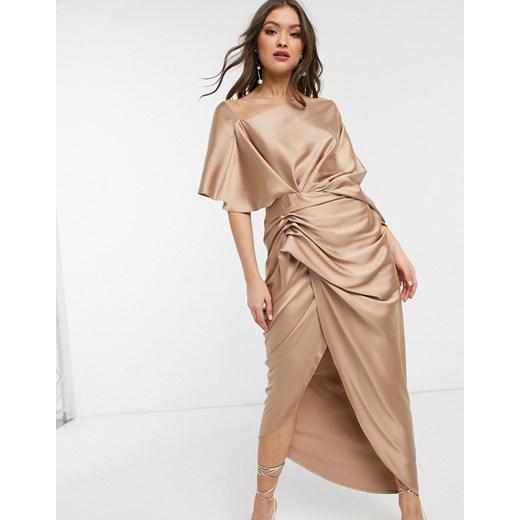 Sukienka Asos Edition Odzież Damska TN złoty EJFM