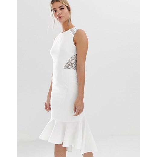 Sukienka Chi Chi London Odzież Damska OG biały DPUF