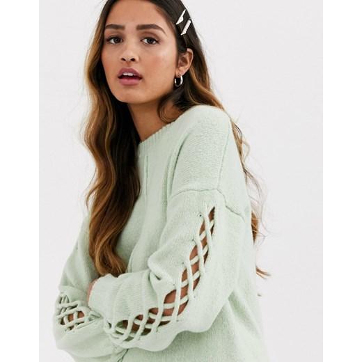 Sweter damski Miss Selfridge Odzież Damska XH zielony YTPL