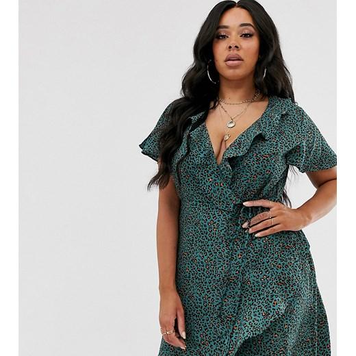 Sukienka Missguided Plus Odzież Damska FH zielony UDJJ