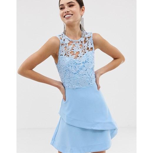 Sukienka Girl In Mind mini bez rękawów Odzież Damska RF niebieski TXHX