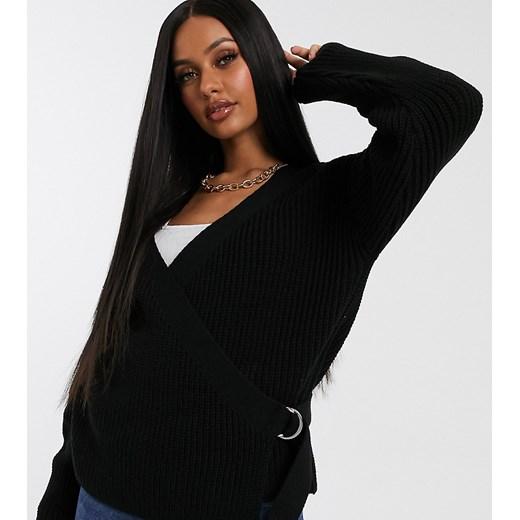 Sweter damski Missguided Odzież Damska BJ czarny QDIZ