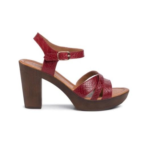 Espadryle damskie Lasocki czerwone eleganckie C9NnA