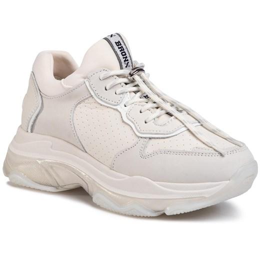 Buty Sportowe Damskie Biale Bronx Mlodziezowe Na Platformie Sznurowane W Domodi