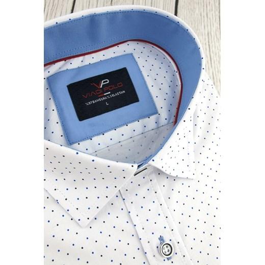 Koszula męska Viadi Polo z długim rękawem w grochy w Domodi