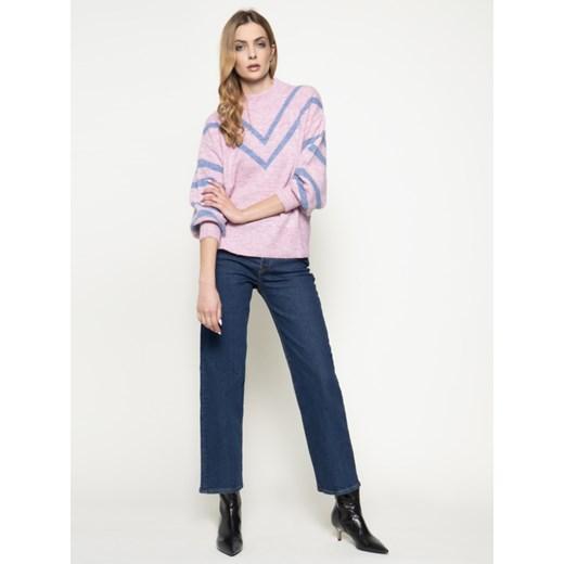 Sweter damski Pepe Jeans z okrągłym dekoltem Odzież Damska HS różowy BTCX