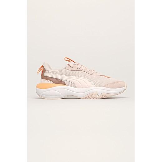 Buty sportowe damskie Puma sznurowane na platformie w Domodi