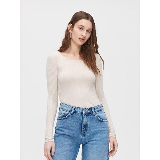 Sweter damski Cropp Odzież Damska FL beżowy VXOD