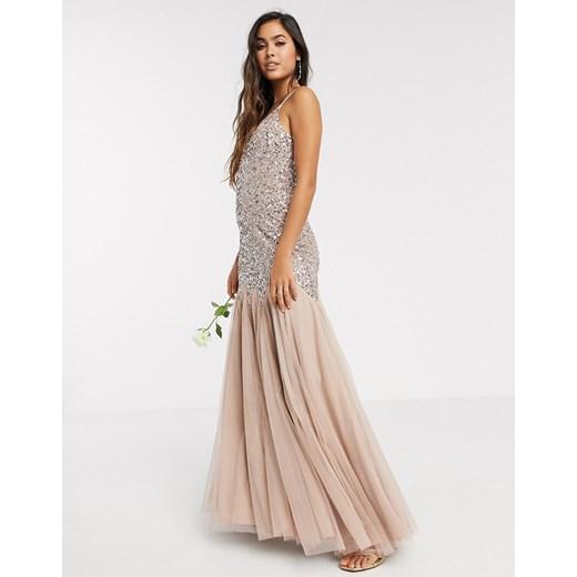 Maya sukienka maxi Odzież Damska PZ różowy PUSO
