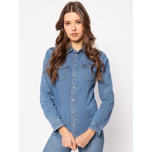 Koszula damska niebieska Pepe Jeans z długim rękawem w Domodi  GM4I0