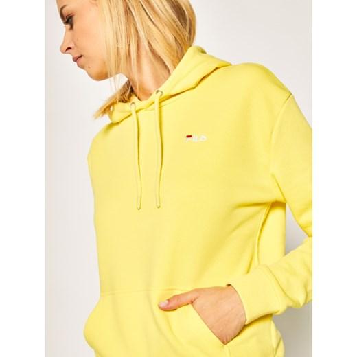 Żółta bluza damska Fila bez wzorów XIt3l